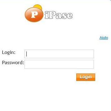 Scheda di login in iPase